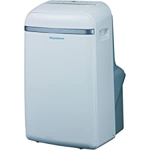 "Keystone Eco-Friendly 14,000 BTU Portable Indoor Air Conditioner, Built-In Dehumidification with ""No Bucket Design"", Electronic Controls with LED Display, and 3 Cooling & 3 Fan Speeds - Sleep Mode, Full Function Temperature Sensing ""Follow Me"" Remote, Side Handles & Castor Wheels and Flexible Exhaust Hose Included"
