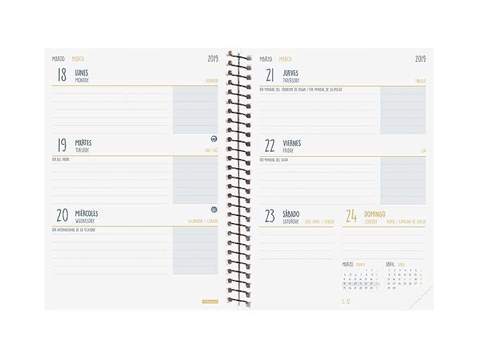 Finocam Secundaria - Agenda 2018-2019 semana vista apaisada español, 120 x 164 mm, cronos: Amazon.es: Oficina y papelería