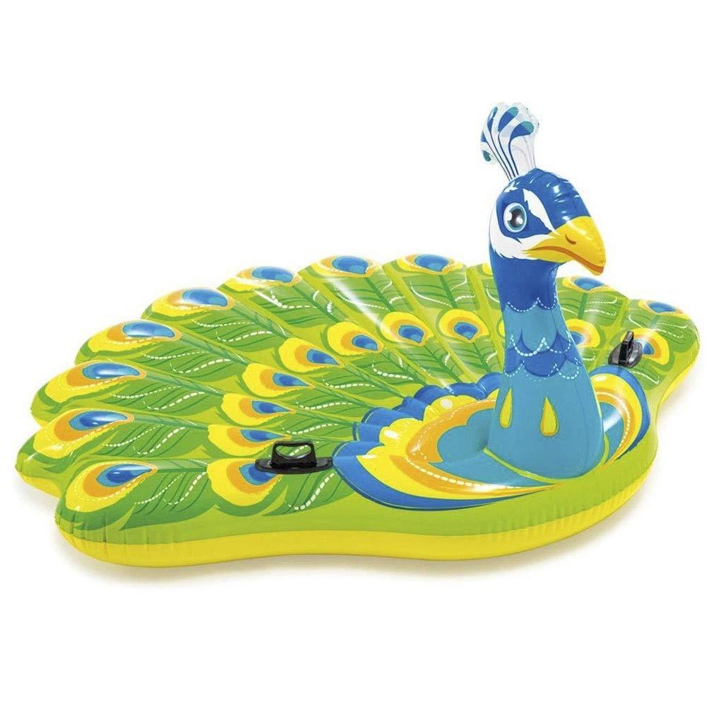 大人のプールの浮遊物ポリ塩化ビニール浜のプールの創造的な孔雀の膨脹可能なおもちゃ193 * 163 * 94cm KKY-ENTER   B07RTWCKRD