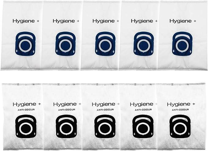 Green Label Bolsas de Repuesto Hygiene + para Aspiradoras Rowenta Silence Force, Compact Power y X-Trem Power (5 Bolsas Optimal + 5 Anti-Odour). Reemplaza a ZR200520, ZR200720: Amazon.es: Hogar