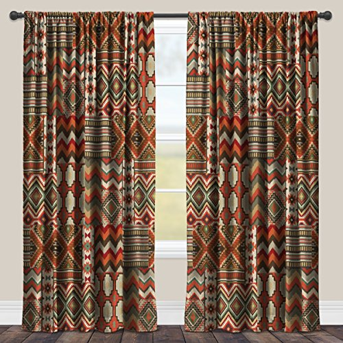Laural Home Country Mood Navajo Room Darkening Window Curtain 84×50