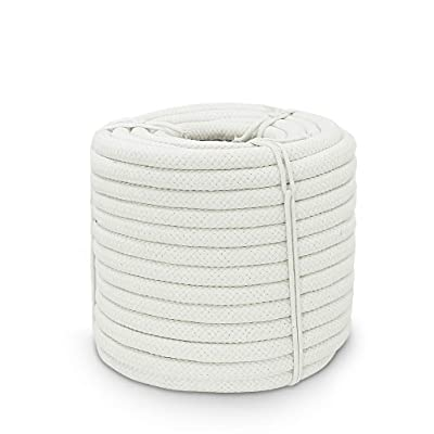 Aoneky Braided Cotton Rope (1/2 inch x 100 ft)
