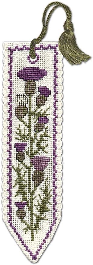 Textile Heritage Counted Cross Stitch Bookmark Kit Scottish Thistle