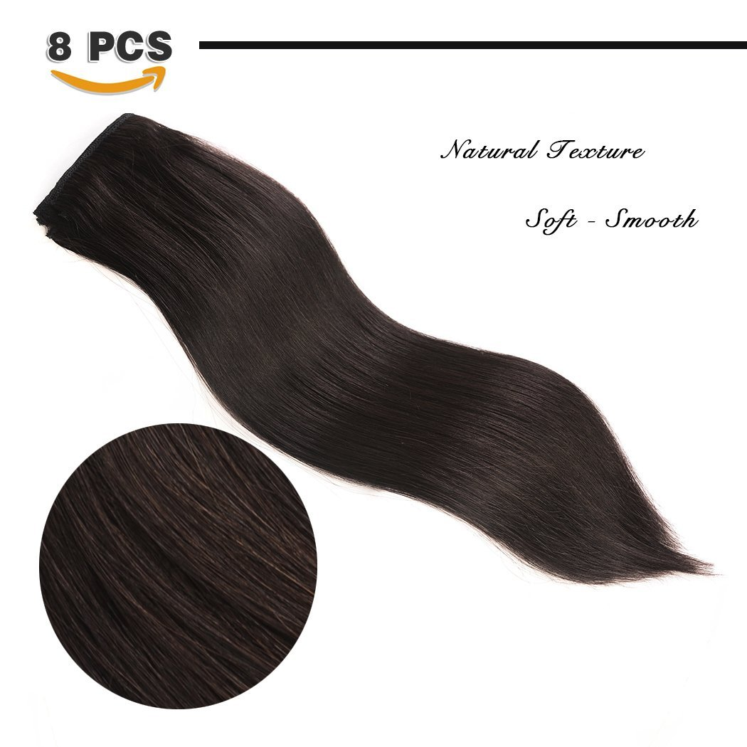 Amazon 14 Remy Clip In Hair Extensions Human Hair For Black
