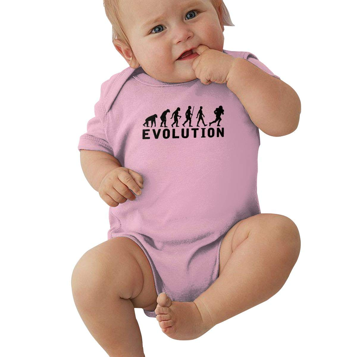 American Football Evolution Toddler Baby Girl Boy Romper Jumpsuit Short Sleeve Bodysuit Tops Clothes