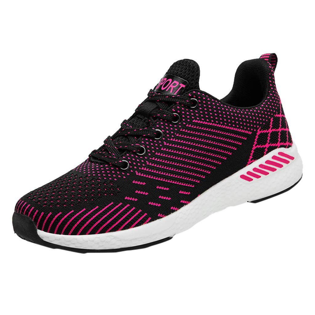 Men Sneakers Respctful ♫♫ Women's Fashion Running Shoes Fashion Breathable Sneakers Casual Mesh Soft Sole Black