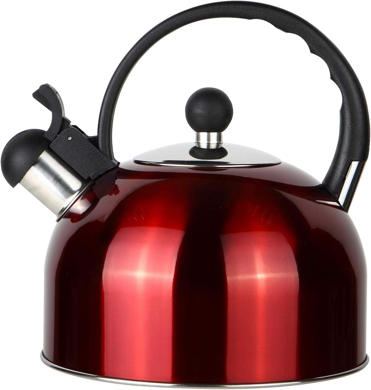 ROSSETTO Bouilloire sifflante inox 2.5L Rouge