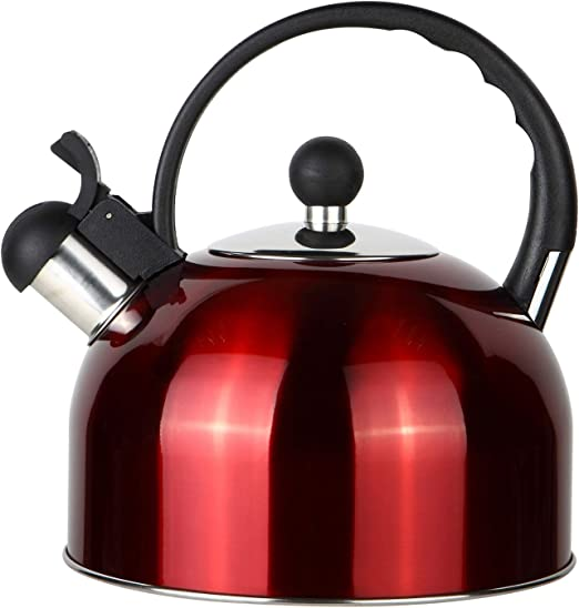 rojo 2,5 L Hervidor de agua de acero inoxidable Rosseto