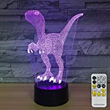 NINE SQUARE EGOU Night Lights for Kids Dinosaur Decorations 7 Colors Change with Remote Baby Night Light Beside Lamp Kids Lamp Children's Night Lights As a Gift Idea for Girls and boys (Dinosaur)