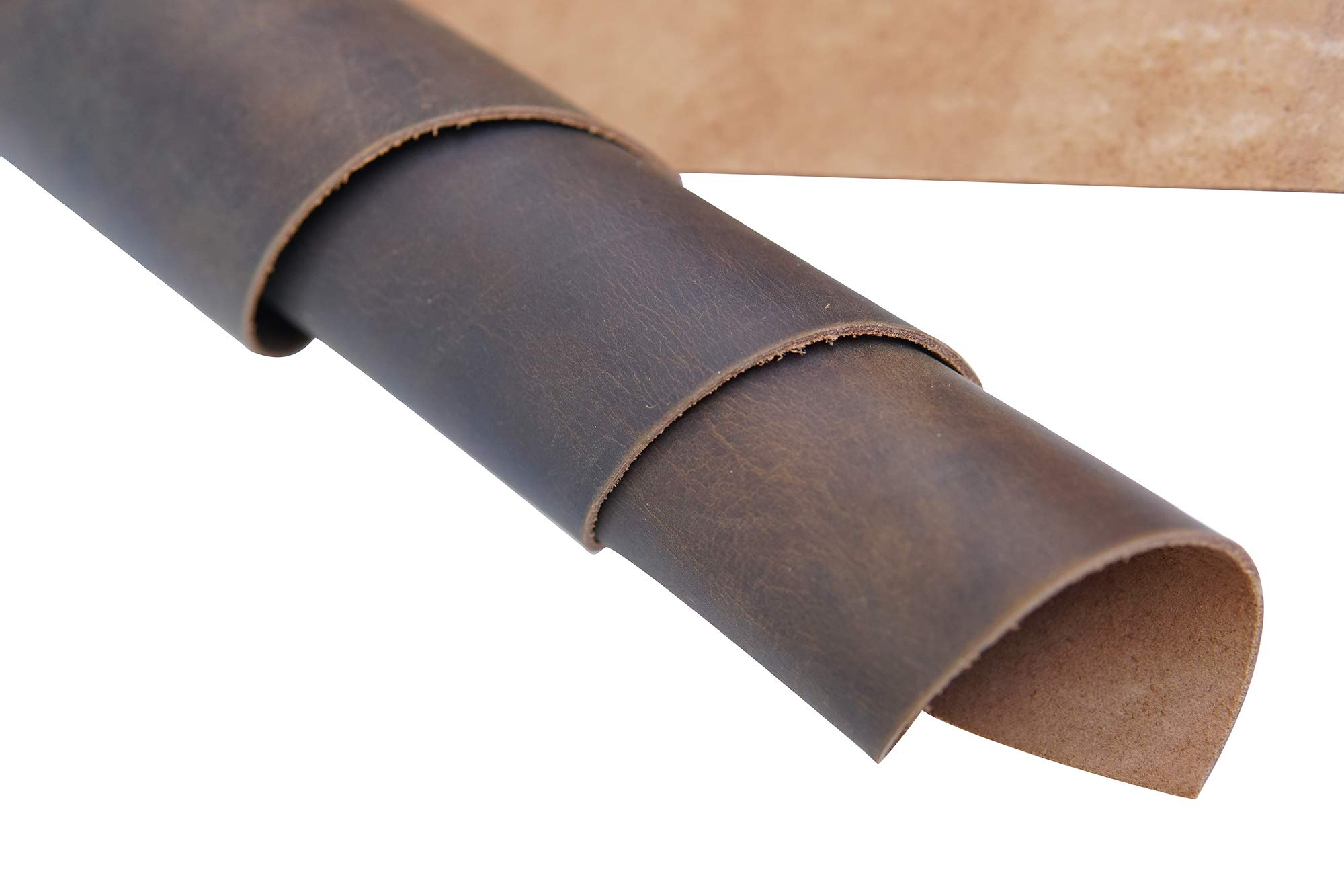 Yellow Brown Genuine Leather Square 1.8-2.0mm 12''x32'' by Jeereal (Image #3)