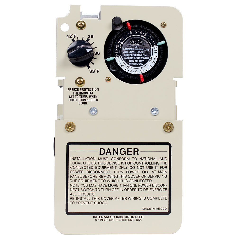 com intermatic pfmt hp timer thermostat com intermatic pf1103mt 1 5 3hp timer thermostat mechanical only patio lawn garden