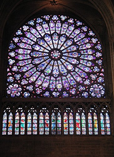 (Laminated Poster Rose Paris Notre Dame Cathedral Stained Glass Window Poster Print 24 x 36)