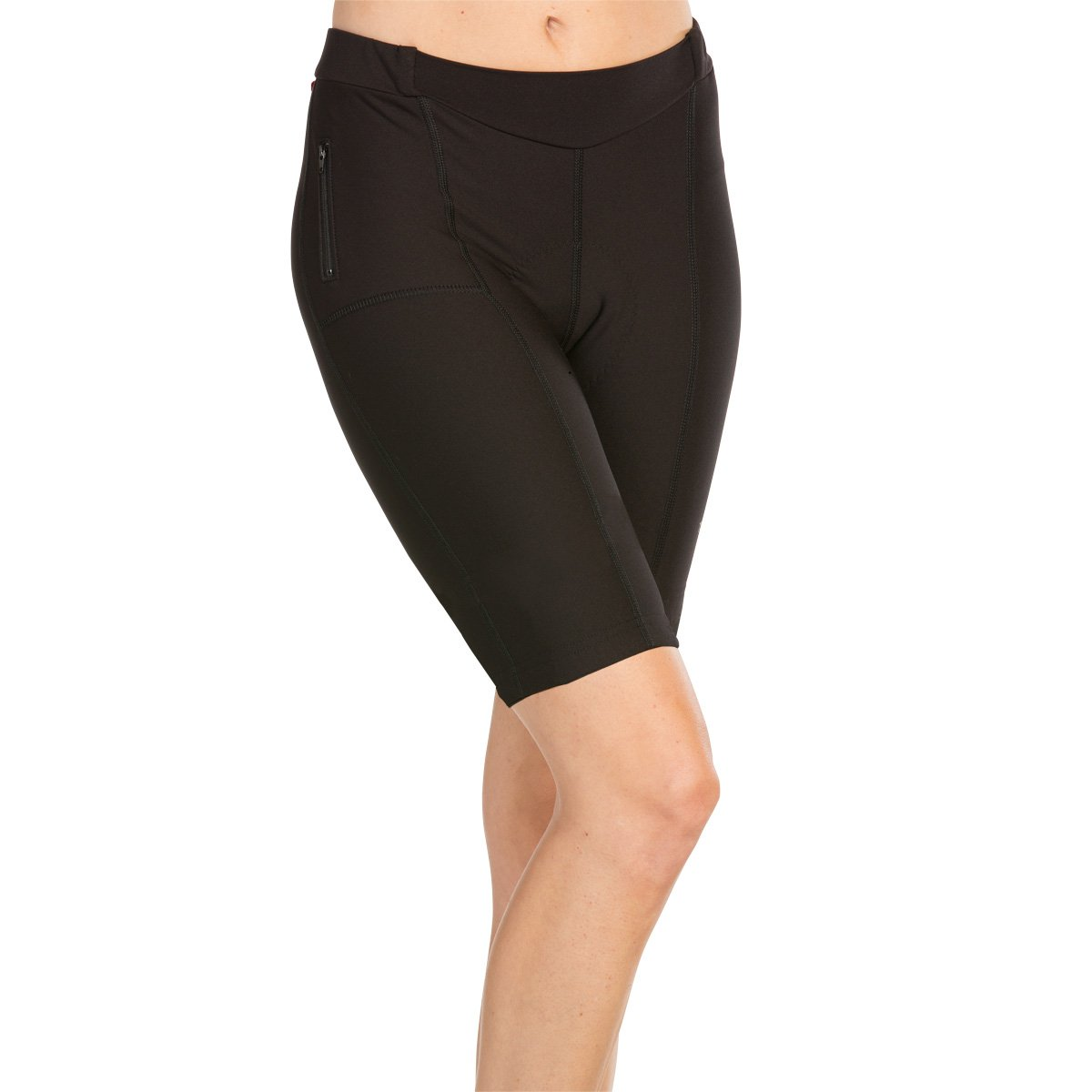 Womens Compression Cycling Shorts Padded Terry Cycling Touring Short Plus