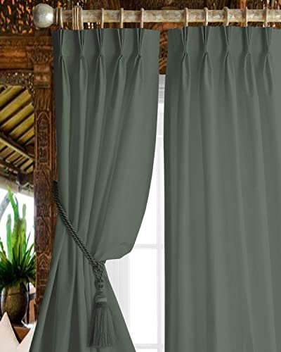 Magic Drapes Triple Pinch Pleated Blackout Curtains Window Treatment Panels 42×108