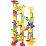 Wishtime 105pcs ビーズコースター おもちゃ ボリュームアップセット 子供 積み木 くるくる ラトルタワー 知育玩具(Amazon配送代行 2日間お届け)