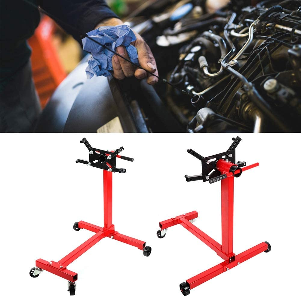 Heavy Duty 1000-LB 450kg Foldable Engine Stand Mobile Engine Cart Motor Lift 1000lbs Engine Bracket Stand