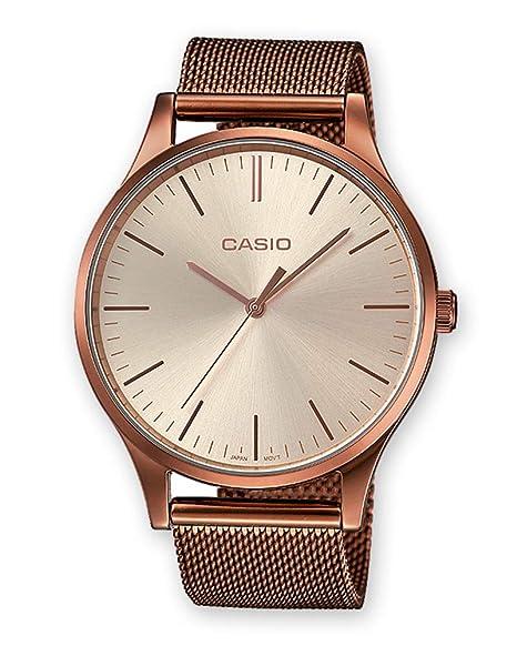96b3d688a9fb Casio Reloj Analogico para Unisex de Cuarzo con Correa en Acero Inoxidable  LTP-E140R-9AEF  Amazon.es  Relojes