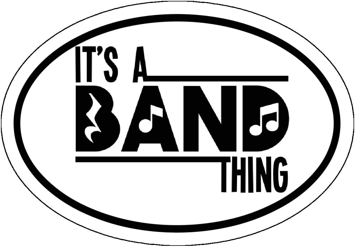 Perfect Parent Instructor Marching Band Gift Band Bumper Sticker WickedGoodz Oval Its a Band Thing Decal