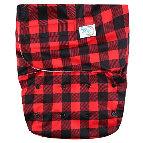 HappyEndings Teen/Adult Hook and Loop Closure Stain Resistant Reusable Cloth Diaper for IncontinenceBuffalo Plaid