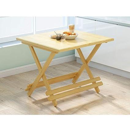 Mesas Plegables De Madera Para Comedor.Smbyll Mesa Plegable De Madera Mesa Para Refrigerios Simple