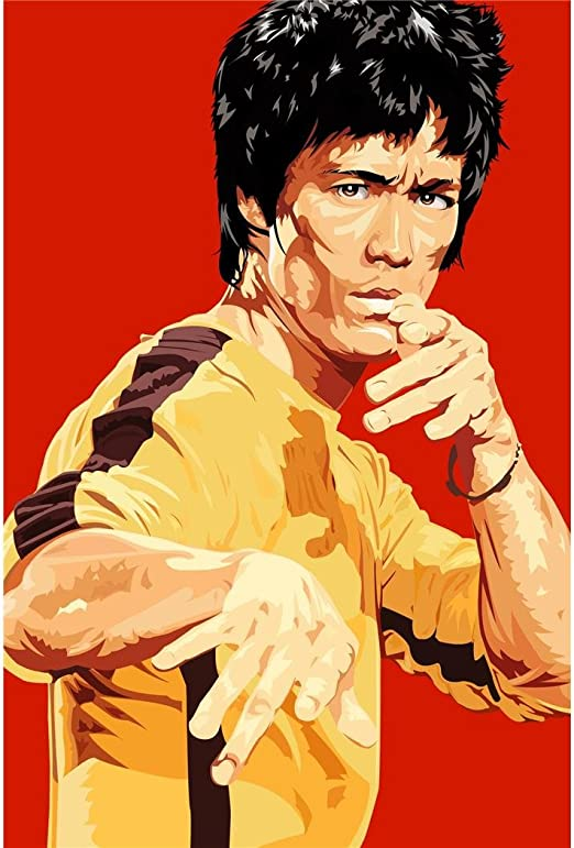 ENTER THE DRAGON Movie Silk Fabric Poster Kung-Fu Bruce Lee