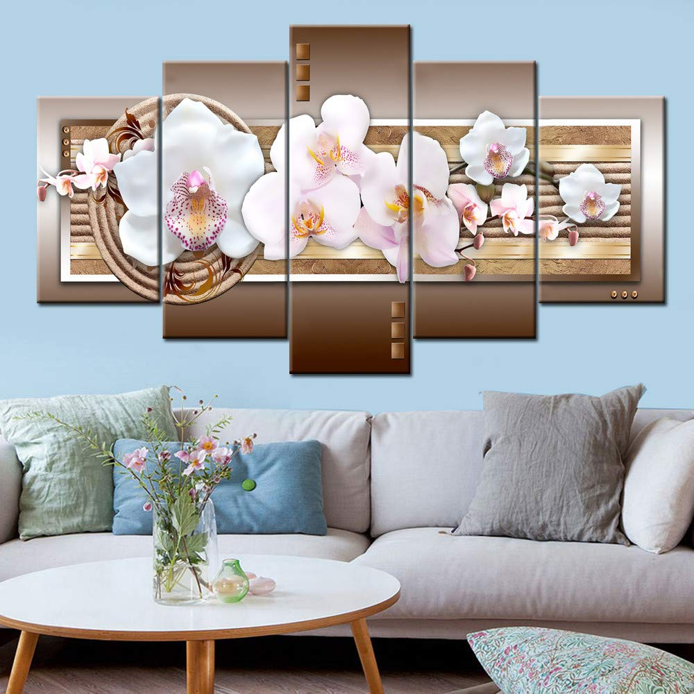 Home Decor,Home Decorations for Living Room Fashion Wall Art Canvas Painting 5 Pieces Mangnolia Flower