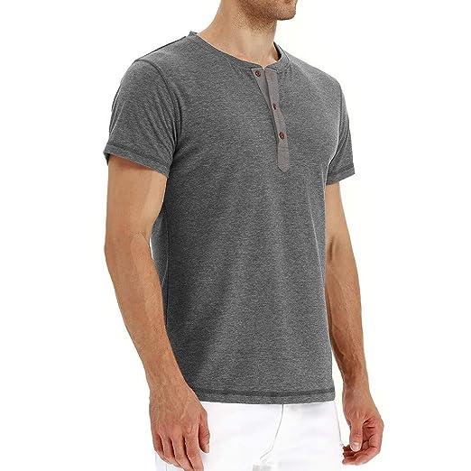 ZODOF Hombre Camisa Manga Larga Slim Fit Panel Delgado Formal en otoño Casual Top Blusa de Hombre: Amazon.es: Ropa y accesorios