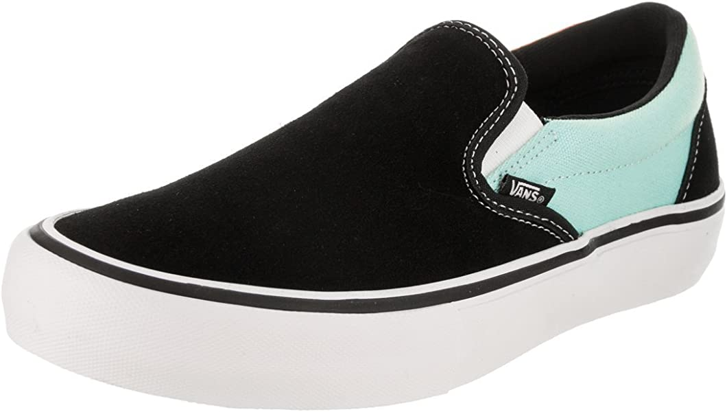 bd4470712eaa Amazon.com  Vans Slip-On Pro (Asymmetry) Black Blue Rose 9  Shoes