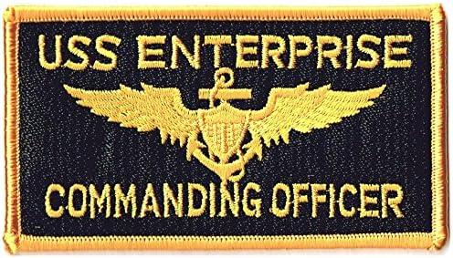 ミリタリーワッペン 米海軍USS ENTERPRISE角型