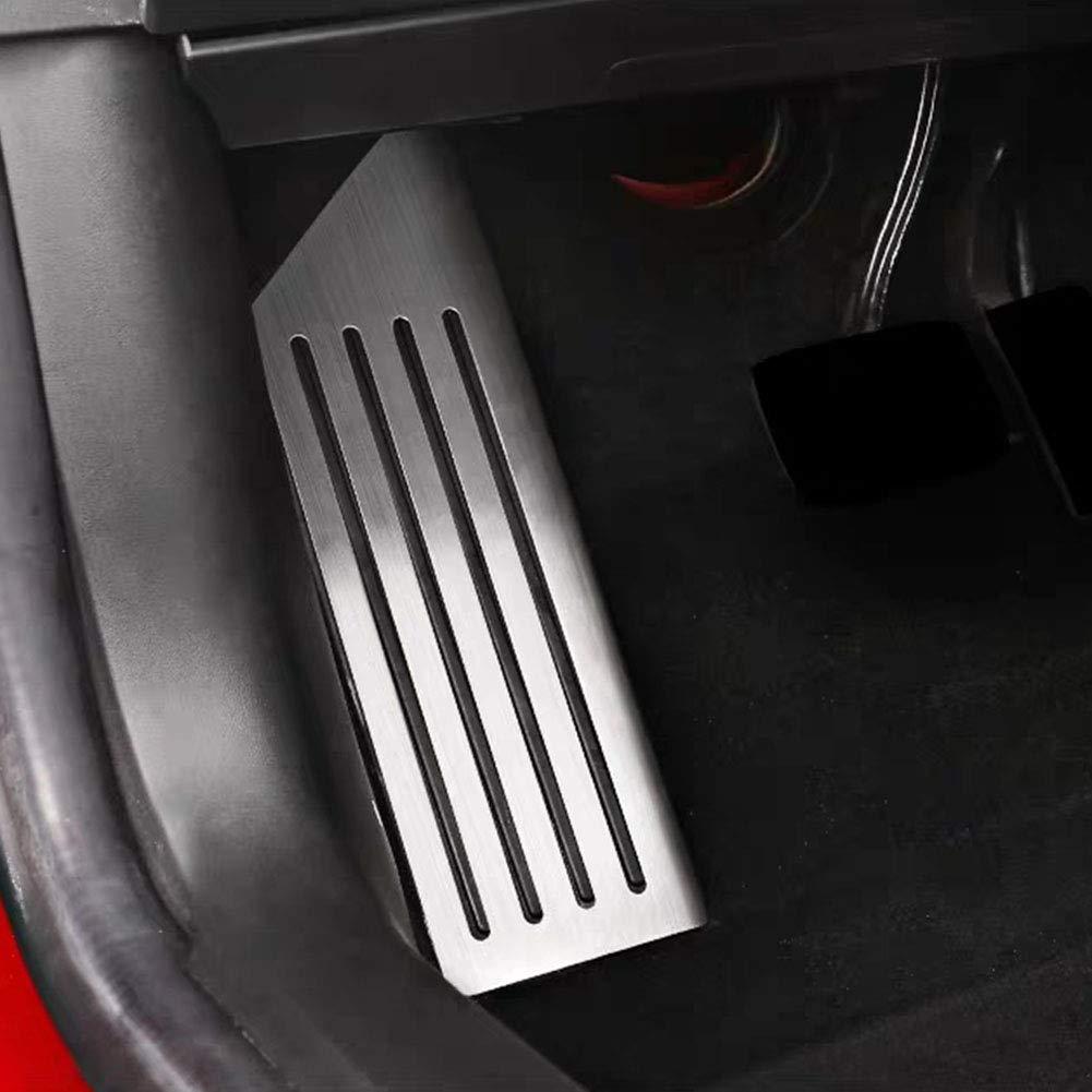 Tesla Model 3 Couvre-p/édale Dead avec adh/ésif en acier inoxydable et acc/él/érateur de performance antid/érapant pour Tesla M3 Free Size Wie Gezeigt