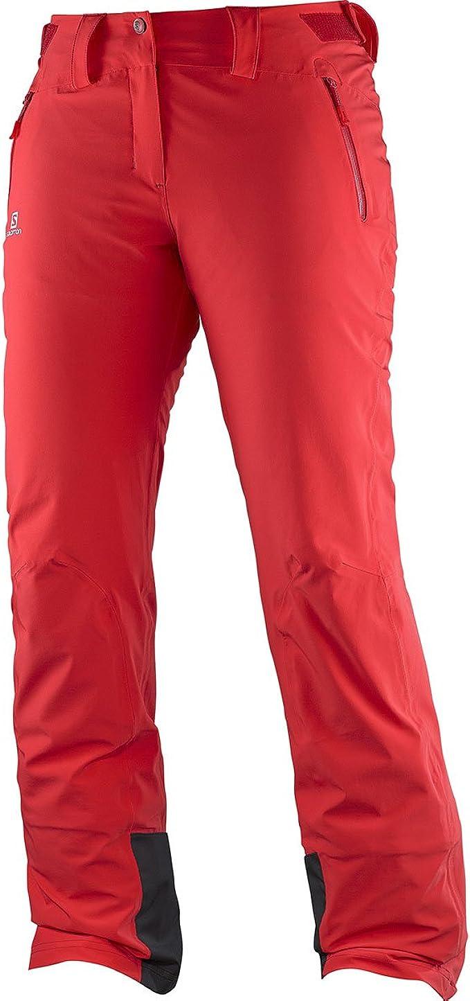 SALOMON Iceglory W Hose für Damen, Farbe Rot, Größe MS QO0M1