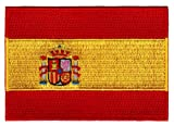 Spain Flag Embroidered Patch Spanish Iron-On National Emblem