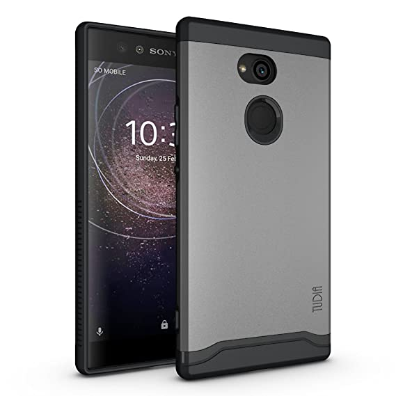 the latest ad711 b0a86 Sony Xperia XA2 Ultra Case, TUDIA Slim-Fit Heavy Duty [Merge] Extreme  Protection/Rugged but Slim Dual Layer Case for Sony Xperia XA2 Ultra  (Metallic ...
