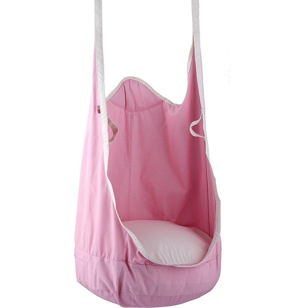 Pieghevole Hanging pod altalena amaca sedile, Homeself per esterni e interni per bambini, comoda sedia a dondolo con cuscino, sedia a dondolo per bambini