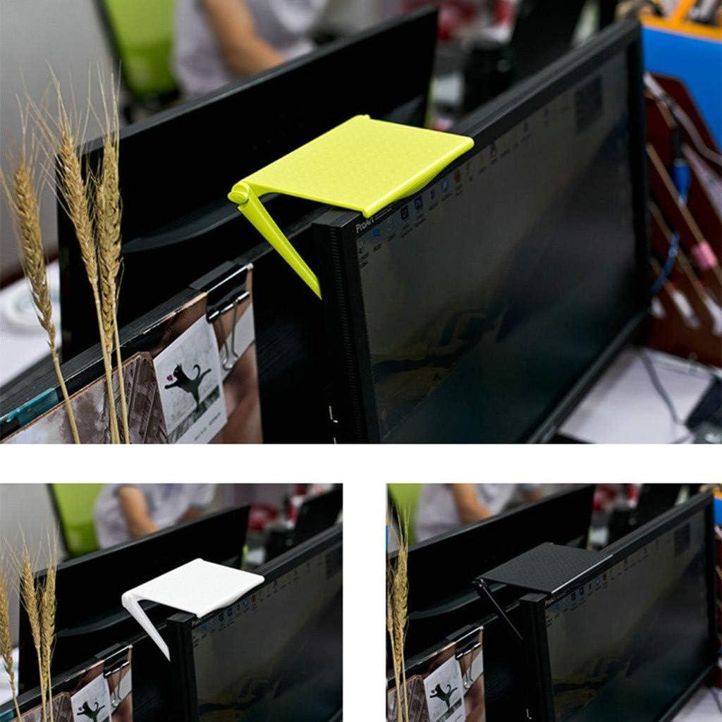 Sturdy and Durable Computer Monitor Riser Desktop Stand ABS TV Rack Display Portable Shelf Storage Desk Black Creative Multi-Function Rack Storage Rack