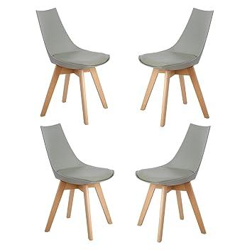 Rétro De H Manger j Design Lot Scandinave À 4 Wedoo Salle Chaise PiulTZOkXw