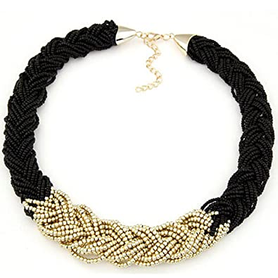 Fashion Chain Multilayers Long Seed Beaded Cluster Choler Necklace Uhren & Schmuck