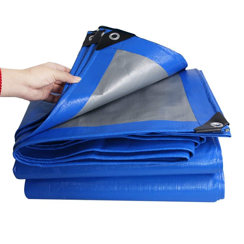 OUT_X アイレット付き防水タパリン耐水性タープ厚いPE日除け日よけ用布200g /m² (サイズ さいず : 8Mx10M) 8Mx10M  B07Q7WJ6LD