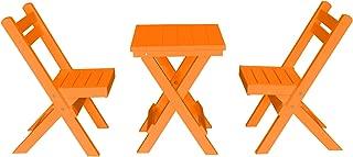 product image for Amish Poly Coronado Square Folding Bistro Set (Bright Orange)