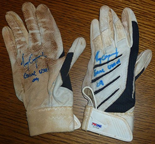 Tony Gwynn Jr 2009 Signed Game Used Batting Glove Pair COA Padres Auto 7 - PSA/DNA Certified - MLB Autographed Game Used Gloves