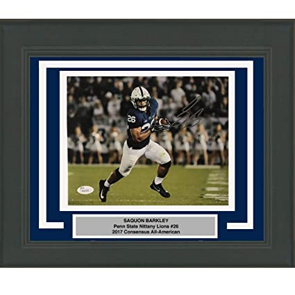 f5b42577cb4 Framed Autographed/Signed Saquon Barkley Penn State Nittany Lions 8x10  College Football Photo JSA COA