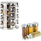 Porta Tempero Condimento Redondo Inox 16 Potes Giratório