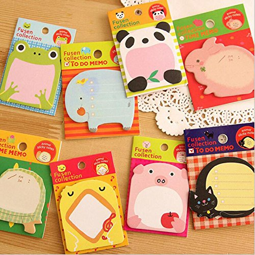 1 Get 3 Stationery Forest Animal Series Cute Paper Memo Pad / Sticker Post Sticky Notes Notepad School Office Supplies (Halloween Math Sheets Grade One)