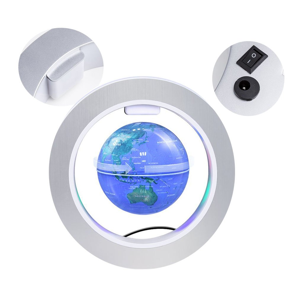 FUZADEL Magnetic Floating Levitating Globe Levitating Toy Magnetic Levitation Globe Magnetic Toy Playboards Floating Globes with Stand by FUZADEL (Image #4)