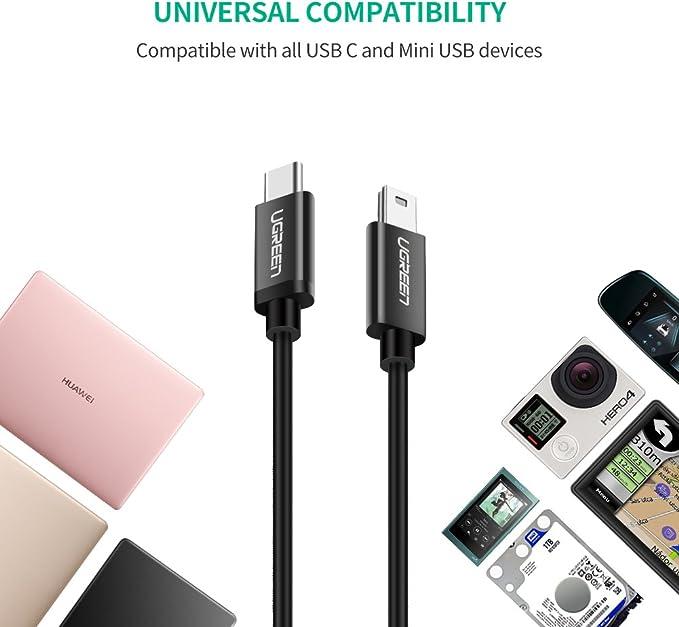 Cámara De Acción USB bañado en oro-C Para Cable Adaptador de carga USB-A Para GoPro HERO 6