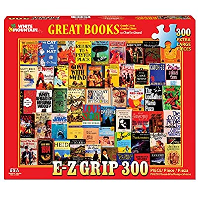 White Mountain Puzzles Great Books, 300Piece Jigsaw Puzzle: Toys & Games