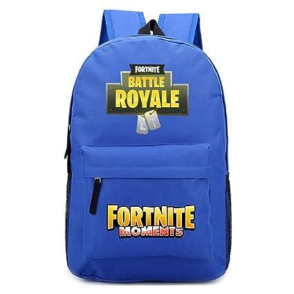 1 mochila con estampado de Fortnite, diseño de batalla real para la escuela, camping