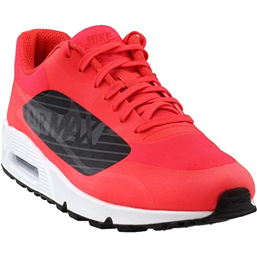 Nike Men s Air Max 90 NS GPX SP Bright Crimson Black White Dark Grey Synthetic Running Shoes 8.5 D M US