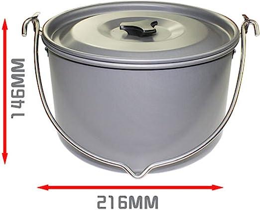 Details about  /Aluminium Big Pot Camping Hanging Pot Outdoor Cookware Pot Cooking Picnic