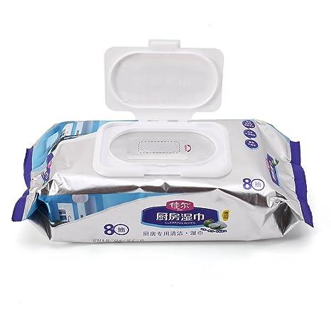 LANDUM - 80 toallitas húmedas Desechables para Limpieza de Ventanas de baño o Cocina, no
